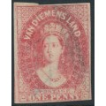 AUSTRALIA / TAS - 1867 1d pale carmine Chalon with '1' watermark, used – SG # 29