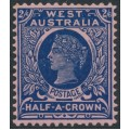 AUSTRALIA / WA - 1902 2/6 deep blue/rose Queen Victoria, MH – SG # 125