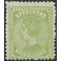 AUSTRALIA / VIC - 1892 9d apple-green Queen Victoria with crown V watermark, MH – SG # 319