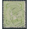 AUSTRALIA / VIC - 1892 9d apple-green Queen Victoria, V over crown watermark, used – SG # 319