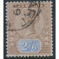 AUSTRALIA / TAS - 1892 2/6 brown/blue Queen Victoria tablet, CTO – SG # 222