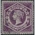 AUSTRALIA / NSW - 1866 6d purple Diadem, perf. 13:13, '12' watermark, used – SG # 165b