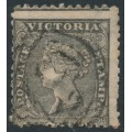 AUSTRALIA / VIC - 1861 6d black Diadem, SIX PENCE watermark, used – SG # 102