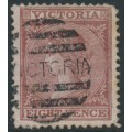 AUSTRALIA / VIC - 1887 8d lilac-brown/pink Laureates, perf. 12½, V crown watermark, used – SG # 152