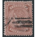 AUSTRALIA / VIC - 1874 9d red-brown/pink Queen, perf. 13, '10' watermark, used – SG # 172a