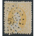 AUSTRALIA / QLD - 1876 4d buff-yellow Chalon, perf. 12 with Q crown watermark, used – SG # 103