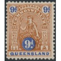 AUSTRALIA / QLD - 1903 9d red-brown/ultramarine Commonwealth issue, MH – SG # 265