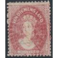 AUSTRALIA / TAS - 1864 1d dull vermillion Chalon, perf. 12½:12½, '1' watermark, used – SG # 81