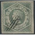 AUSTRALIA / NSW - 1854 6d greenish grey Diadem, imperf., used – SG # 90