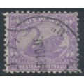 AUSTRALIA / WA - 1912 6d bright violet Swan, perf. 11½:12, crown A watermark, used – SG # 168