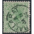 AUSTRALIA / VIC - 1884 1d green Queen Victoria, perf. 12½, V crown watermark, used – SG # 201