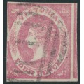 AUSTRALIA / VIC - 1858 4d rose-pink Emblems, no watermark, imperf., used – SG # 65