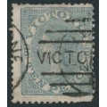 AUSTRALIA / VIC - 1865 10d grey Laureates, '8' watermark, perf. 13, used – SG # 119