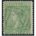 AUSTRALIA / VIC - 1867 1d bright yellow-green Laureates, '4' watermark, used – SG # 125