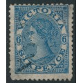 AUSTRALIA / VIC - 1868 6d blue Laureates with double-lined '4' watermark, used – SG # 159