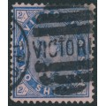 AUSTRALIA / VIC - 1901 2/- blue/pink Queen Victoria without POSTAGE, used – SG # 382