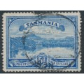 AUSTRALIA / TAS - 1900 5d bright blue Lake St. Clair, TAS watermark with T perfin, used – SG # 235