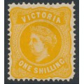 AUSTRALIA / VIC - 1901 1/- yellow Queen Victoria without POSTAGE, MH – SG # 381