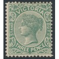 AUSTRALIA / VIC - 1901 3d slate-green Queen Victoria STAMP DUTY, MH – SG # 362