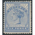 AUSTRALIA / VIC - 1900 6d dull ultramarine Queen Victoria STAMP DUTY, MH – SG # 365