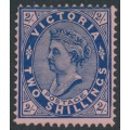 AUSTRALIA / VIC - 1901 2/- blue/rose QV, V crown watermark, perf. 12:12½, MH – SG # 395