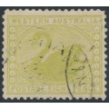 AUSTRALIA / WA - 1912 8d apple-green Swan, perf. 12½, crown over A watermark, used – SG # 144