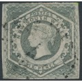 AUSTRALIA / NSW - 1854 6d grey Diadem, imperforate with '6' watermark, used – SG # 94
