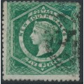 AUSTRALIA / NSW - 1865 5d bright yellow-green Diadem, perf. 13, '5' watermark, used – SG # 161