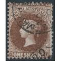 AUSTRALIA / SA - 1901 1/- dark brown Queen Victoria, crown SA watermark, perf. 11½, used – SG # 147