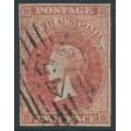 AUSTRALIA / SA - 1855 2d rose-carmine Queen Victoria [London printing], used – SG # 2