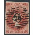 AUSTRALIA / SA - 1858 2d orange-red Queen Victoria (Adelaide printing), used – SG # 7