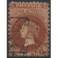 AUSTRALIA / SA - 1871 1/- chestnut QV, perf. 10:11½, large star watermark, used – SG # 108
