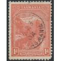 AUSTRALIA / TAS - 1902 1d pale red Mt. Wellington, perf. 11, sideways V crown watermark, used – SG # 240a