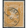 AUSTRALIA / TAS - 1907 4d pale yellow-brown Russell Falls, perf. 11, upright crown A watermark, used – SG # 247a