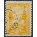 AUSTRALIA / TAS - 1912 4d orange-yellow Russell Falls, perf. 11, upright crown A watermark, used – SG # 247da