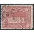 AUSTRALIA / TAS - 1911 6d dull carmine-red Dilston Falls, perf. 11, sideways crown A watermark, used – SG # 254c
