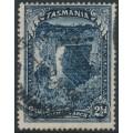 AUSTRALIA / TAS - 1900 2½d indigo Tasman's Arch, TAS watermark with 'T' perfin, used – SG # 232