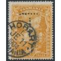 AUSTRALIA / TAS - 1900 4d deep orange-buff Russell Falls, TAS watermark with 'T' perfin, used – SG # 234