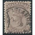 AUSTRALIA / TAS - 1907 8d purple-brown Queen Victoria, perf. 11, crown A watermark, used – SG # 255a