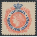 AUSTRALIA / VIC - 1907 5/- red/blue Queen Victoria, perf. 11, MH - SG # 443