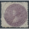 AUSTRALIA / NSW - 1883 5/- rose-lilac Coin, perf. 10:10, '5/~' watermark, used – SG # 178