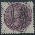 AUSTRALIA / NSW - 1886 5/- reddish purple Coin, perf. 10:10, '5/- watermark', used – SG # 180