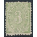 AUSTRALIA / NSW - 1891 3d green Postage Due, perf. 10:10, MNG – SG # D4