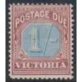 AUSTRALIA / VIC - 1890 1/- dull blue/brown-lake Postage Due, MH – SG # D8