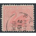 AUSTRALIA / WA - 1906 1d rose-pink Swan, perf. 11, upright crown A watermark, used – SG # 151b