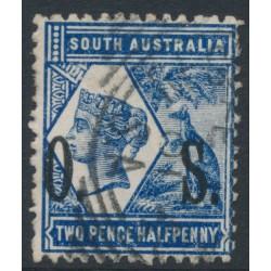 AUSTRALIA / SA - 1901 2½d indigo QV & Kangaroo, perf. 13:13, o/p OS, used – SG # O83