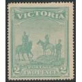 AUSTRALIA / VIC - 1900 2d (2/-) emerald-green Anglo-Boer War Patriotic Fund, MH – SG # 375
