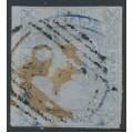 AUSTRALIA / NSW - 1851 2d very pale ultramarine Laureates, imperf. on bluish paper, used – SG # 56