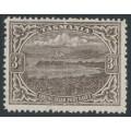 AUSTRALIA / TAS - 1912 3d brown Port Davey, perf. 12½, thin paper, crown A watermark, MNH – SG # 262
