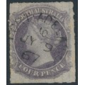 AUSTRALIA / SA - 1867 4d dull violet Queen Victoria, rouletted, used – SG # 27